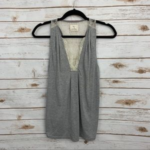 Anthropologie Pins & Needles Lace Detail Tank Top